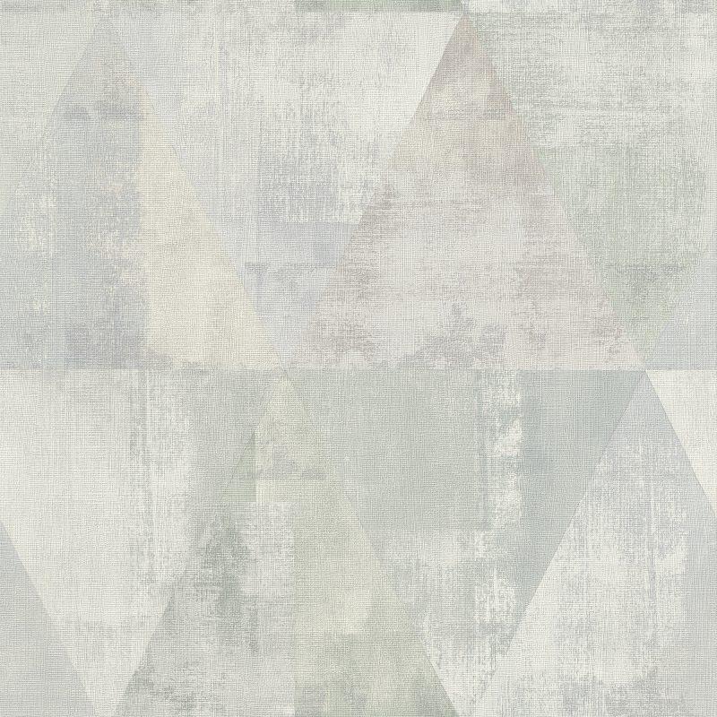 Papel mural triángulos gris y verde HYDE PARK 410952 RASCH
