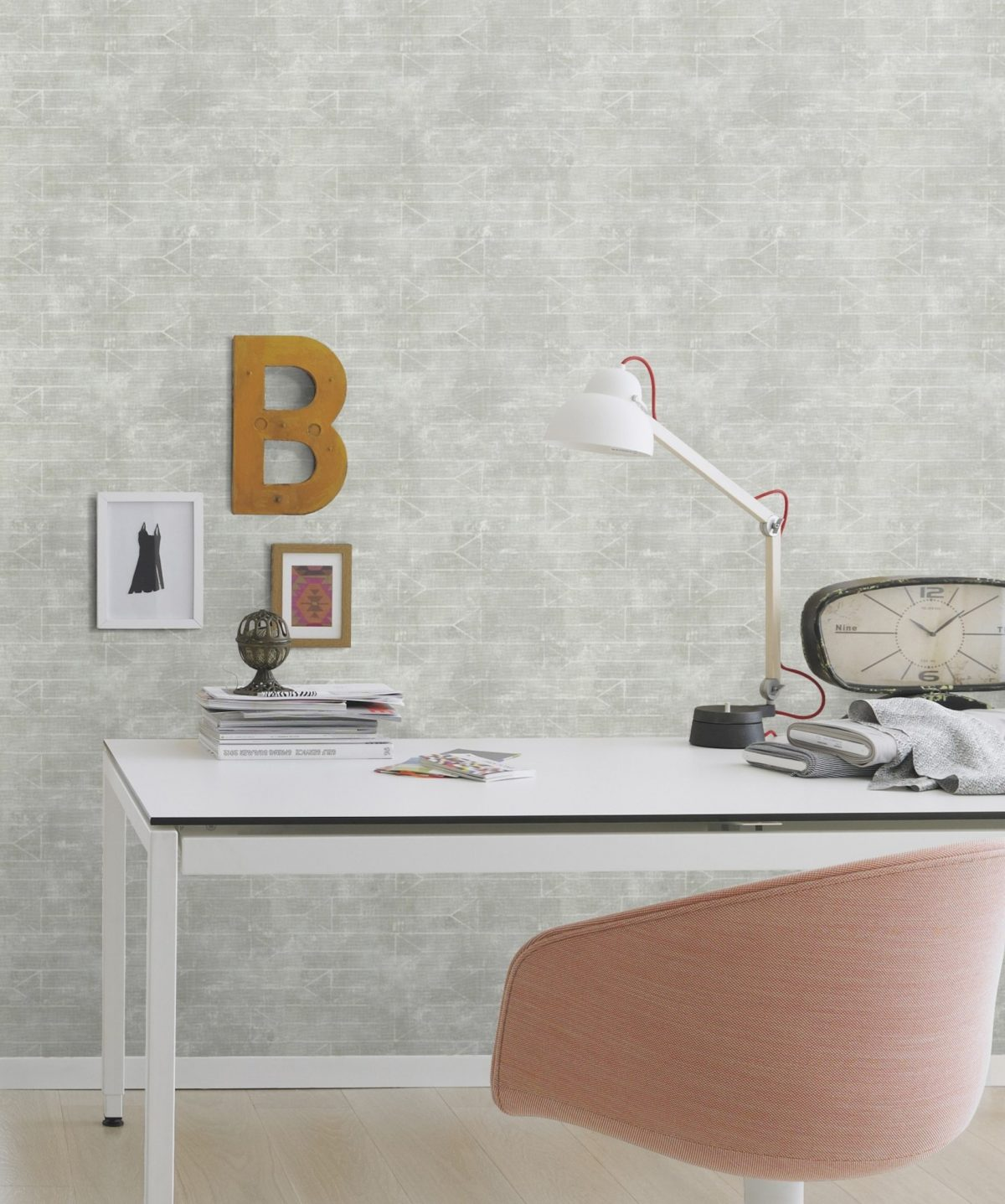 Papel mural gris y blanco HYDE PARK 412017 RASCH