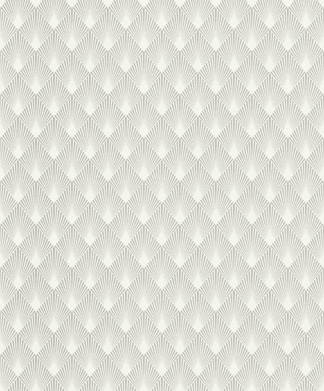 Papel mural diseño art deco shell plateado HYDE PARK 433647 RASCH