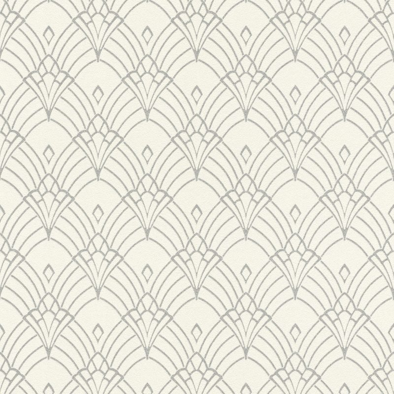 Papel mural diseño geometrico plateado HYDE PARK 433937 RASCH