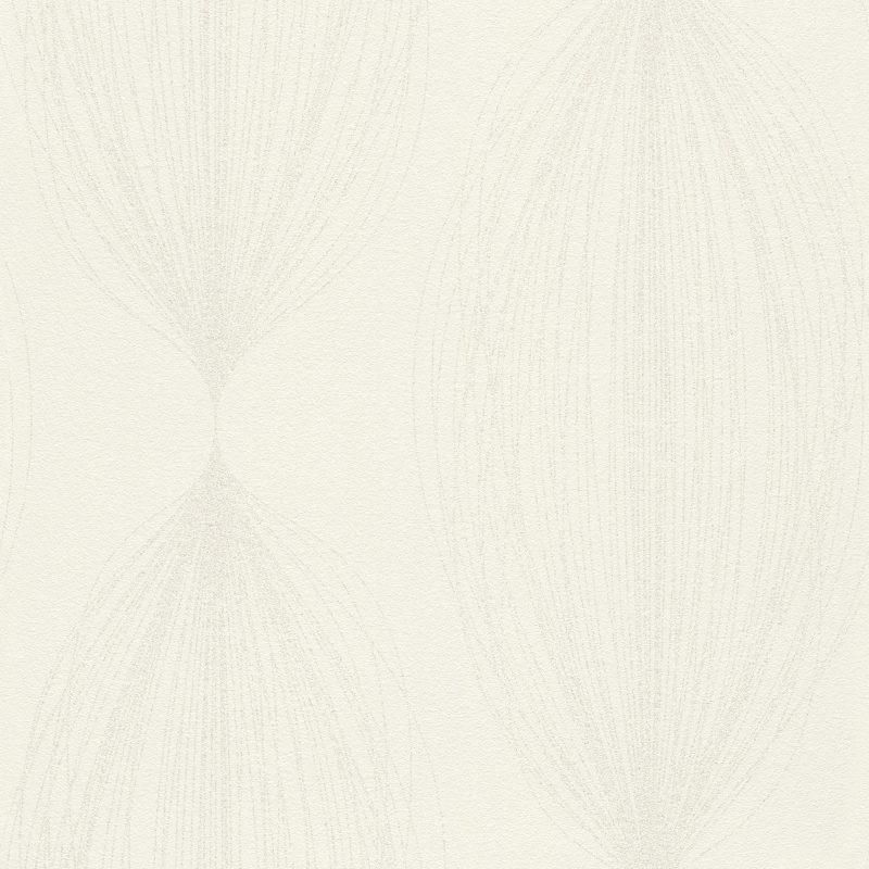 Papel mural blanco con diseño de brillos HYDE PARK 523416 RASCH