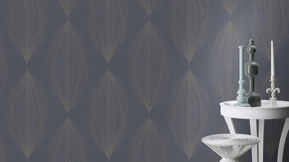 Papel mural gris diseño brillos HYDE PARK 523447 RASCH