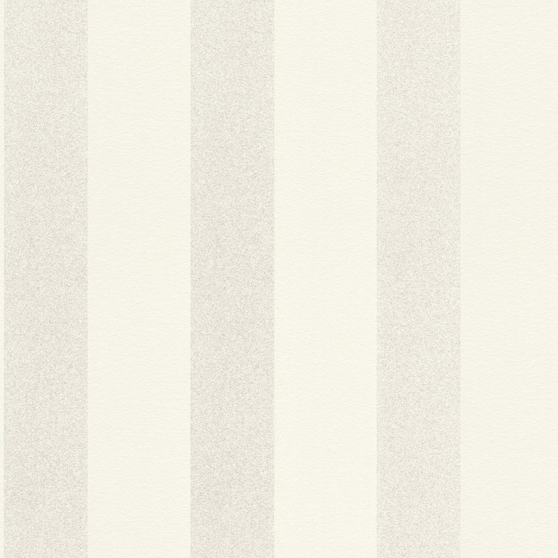 Papel mural blanco rayado con brillos HYDE PARK 523508 RASCH