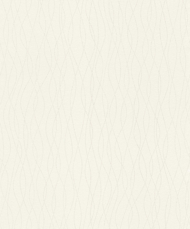 Papel mural blanco lineas glitter HYDE PARK 523805 RASCH