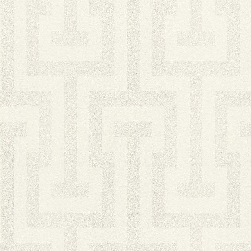 Papel mural geometrico blanco glitter HYDE PARK 523904 RASCH