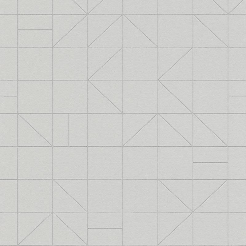 Papel mural gris geometrico HYDE PARK 610741 RASCH
