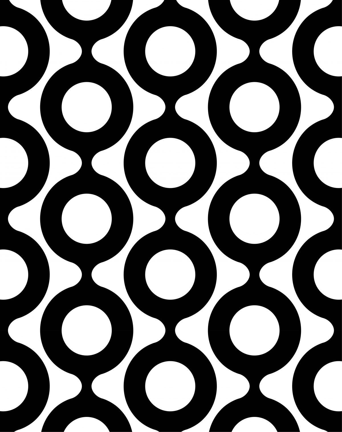 Papel mural círculos blanco y negro ESPECIALES 8331-1 Muresco