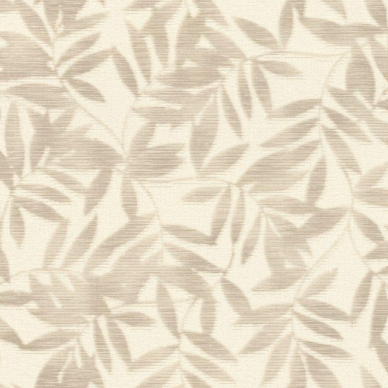Papel mural hojas YUCATAN bambu beige 406306 Rasch