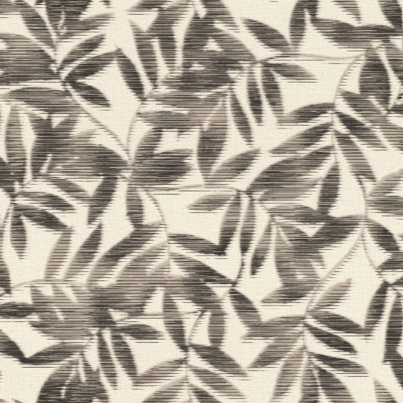 Papel mural hojas bambu negro YUCATAN 406320 Rasch