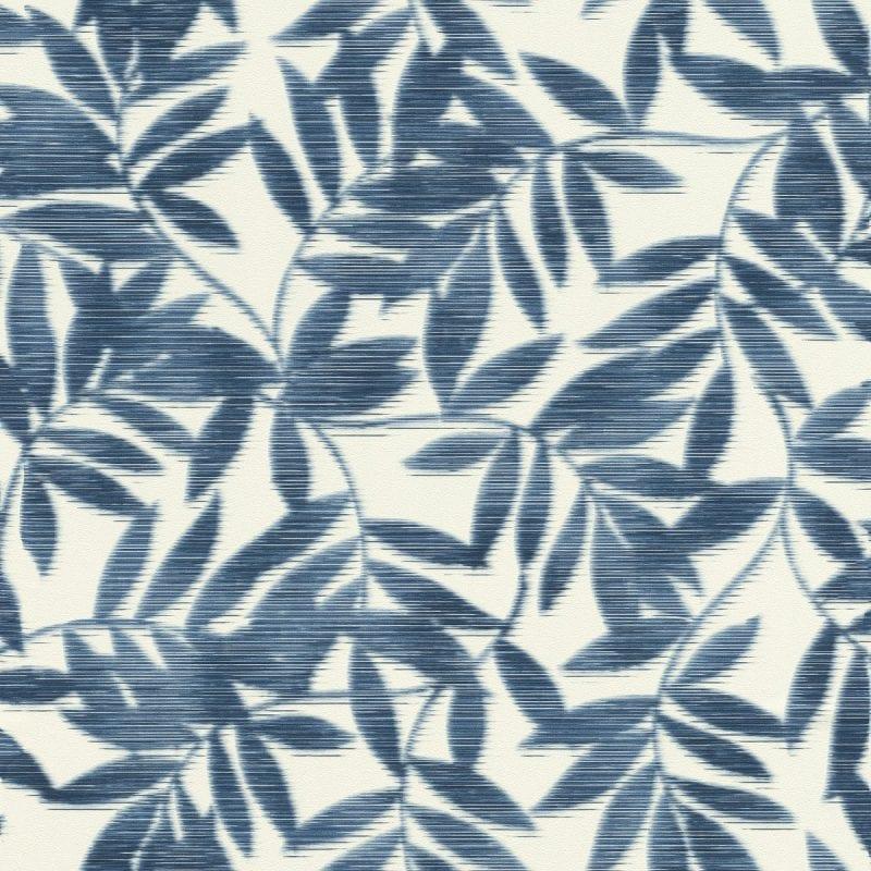 Papel mural hojas bambu azul YUCATAN 406337 Rasch