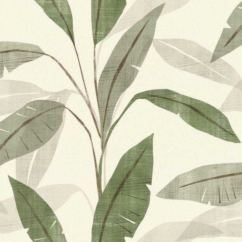 Papel mural hojas verdes YUCATAN 407525 Rasch