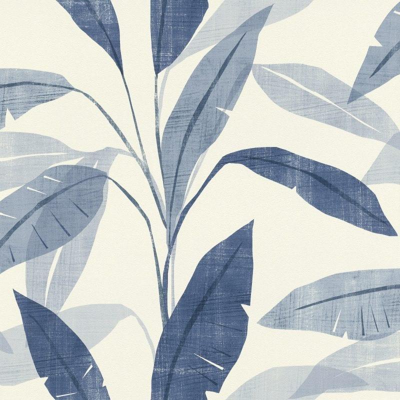 Papel mural hojas azules YUCATAN 407532 Rasch