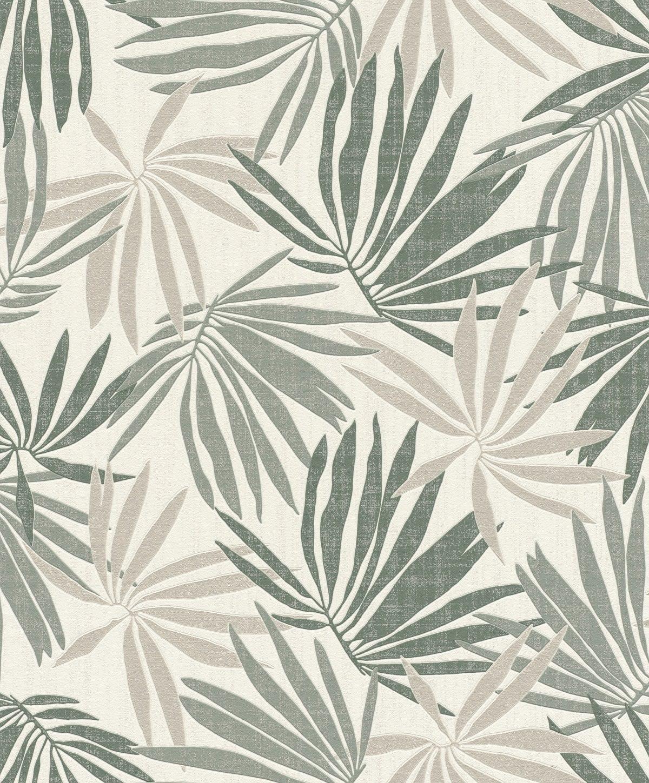 Papel mural hojas tropicales verdes YUCATAN 535402 Rasch