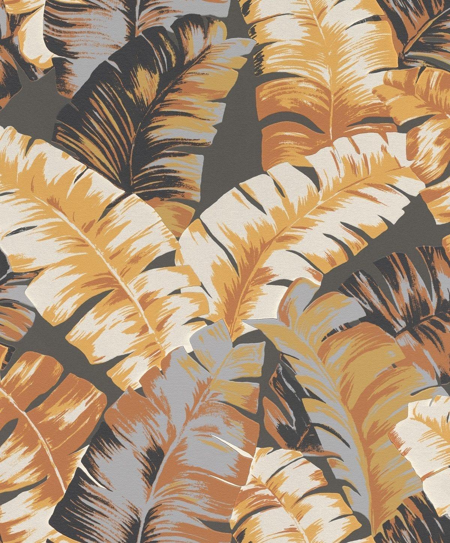 Papel mural Hojas tropicales negro YUCATAN 535631 Rasch