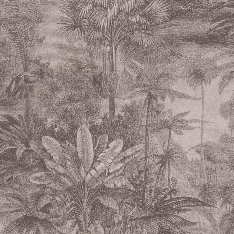 Papel mural paisaje bosques tropicales café KERALA 551143 RASCH