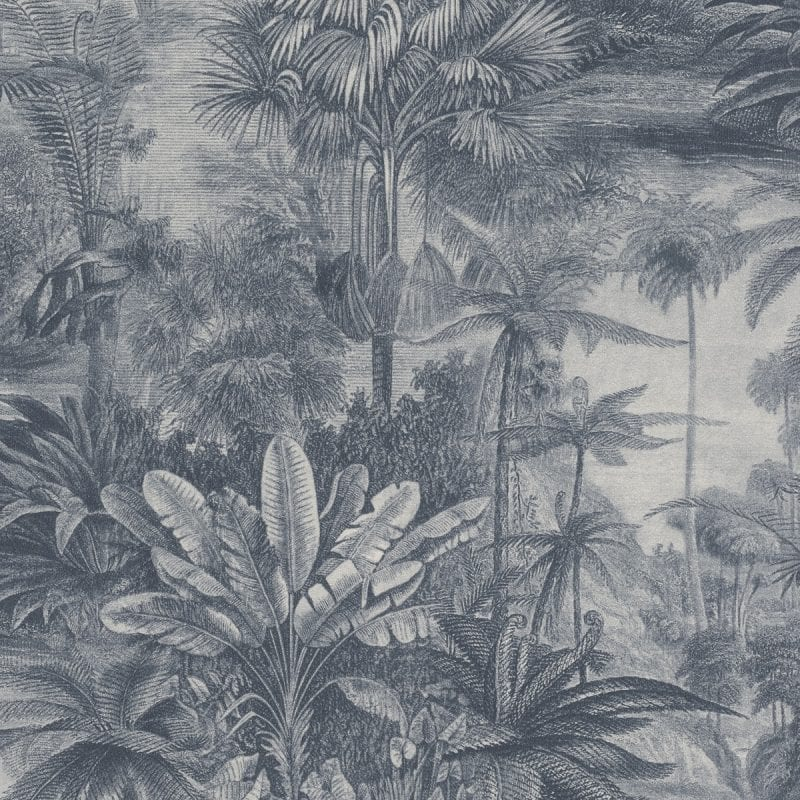 Papel mural paisaje bosques tropicales azul KERALA 551181 RASCH