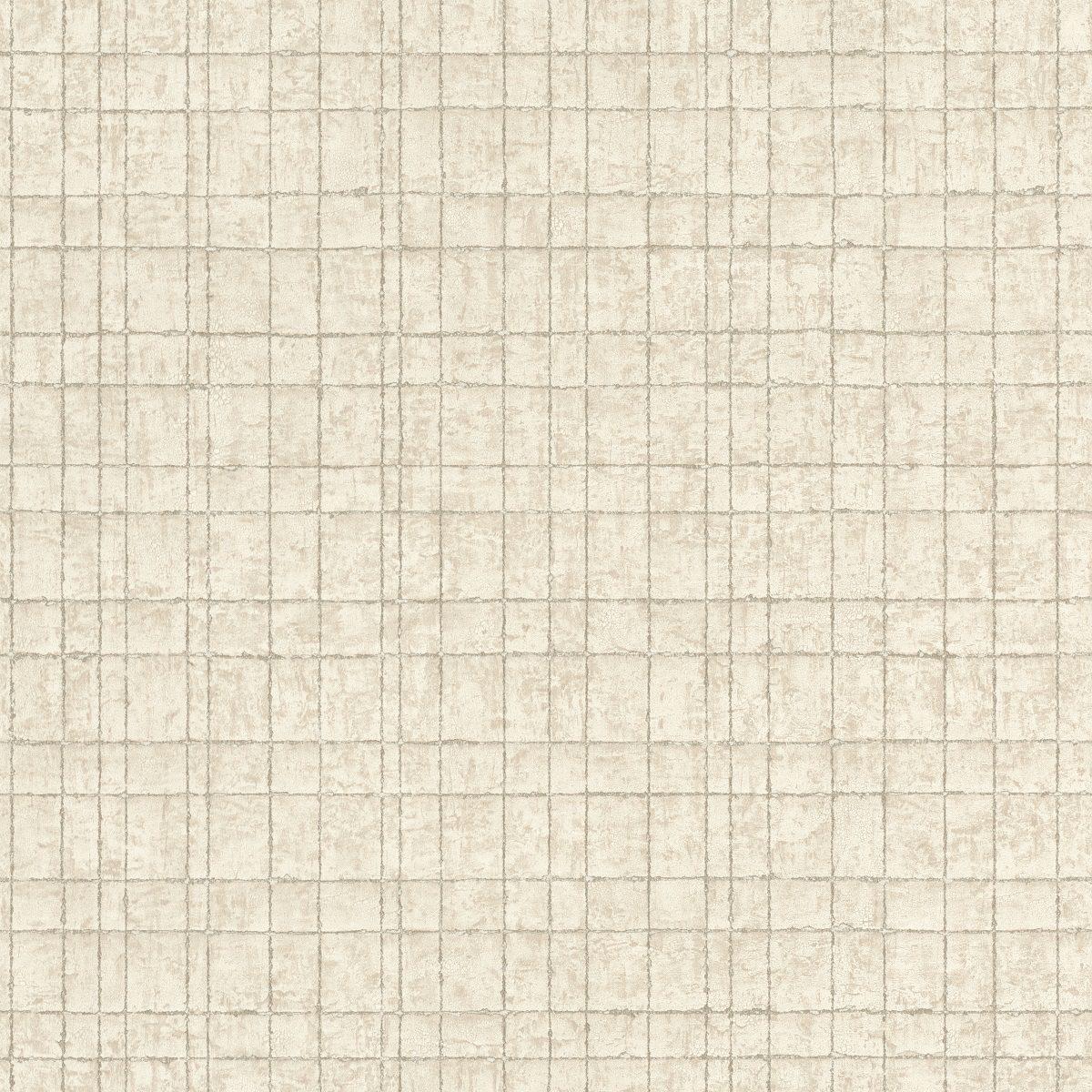 Papel mural geométrico beige y dorado KERALA 551303 RASCH