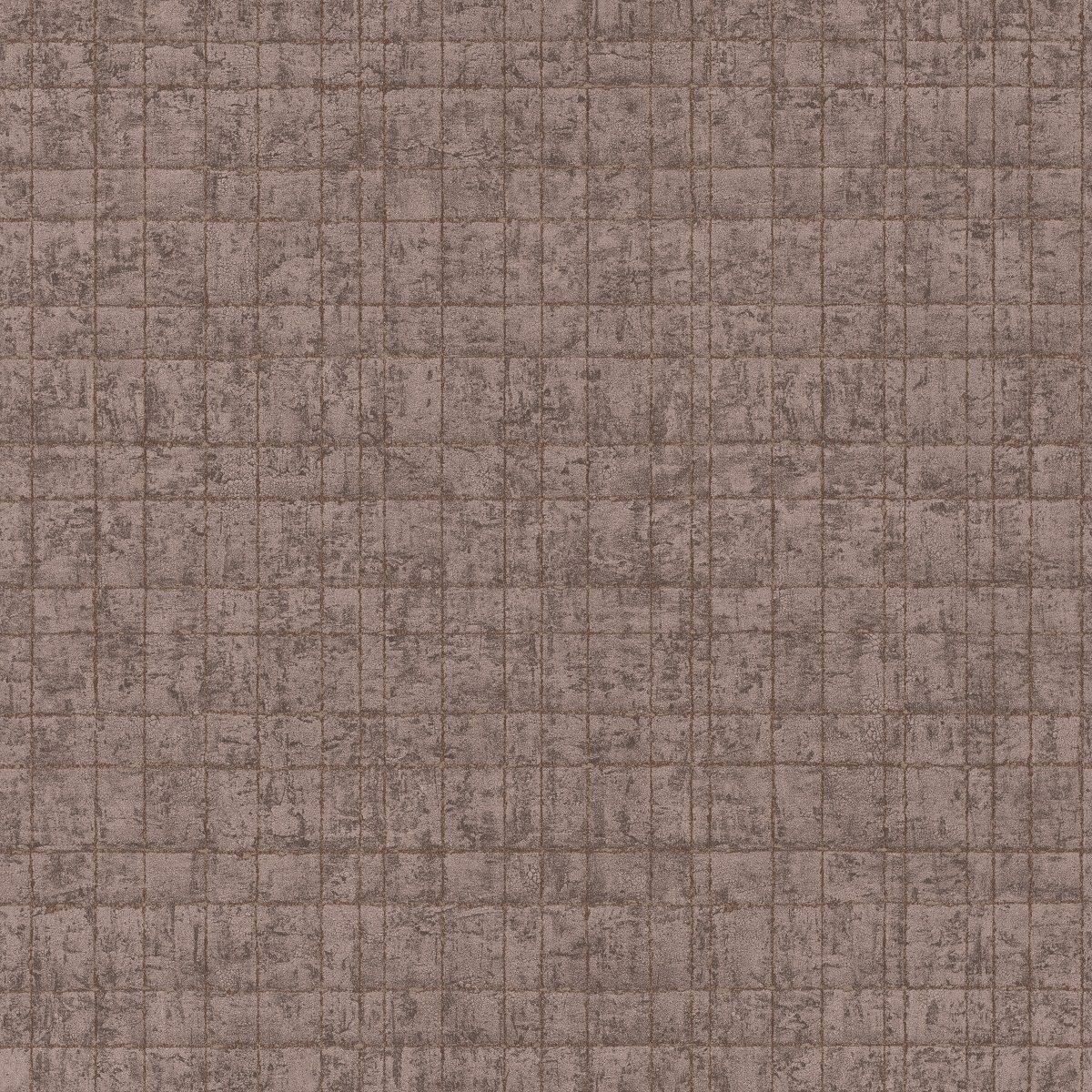 Papel mural geométrico café y dorado KERALA 551341 RASCH