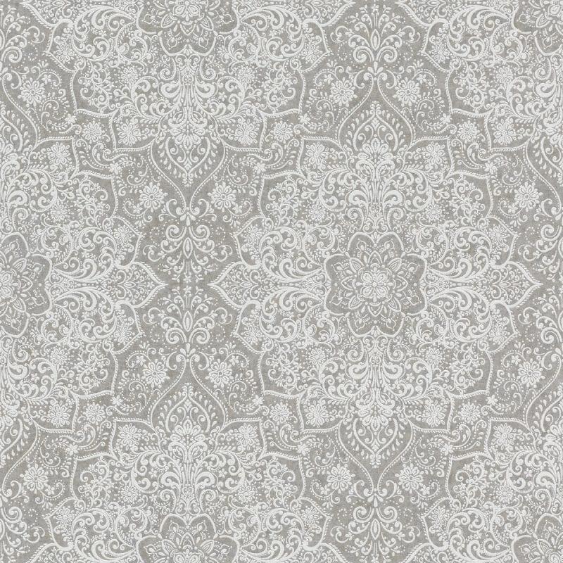Papel mural diseño mandala mehndi 551501 gris y blanco KERALA RASCH