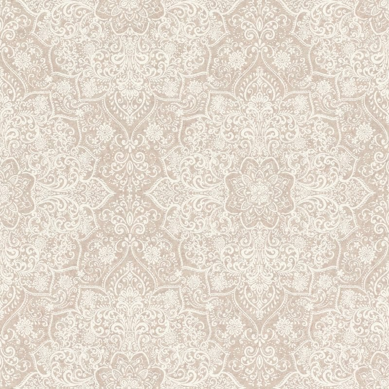 Papel mural diseño mandala mehndi rosado claro y blanco KERALA 551556 RASCH
