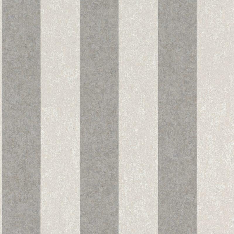 Papel mural rayas beige y gris KERALA 551617 RASCH